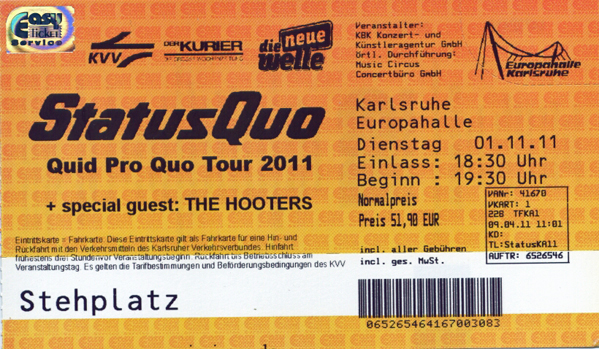 Ticket Status Quo & The Hooters