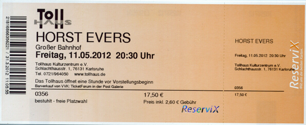 Ticket Horst Evers